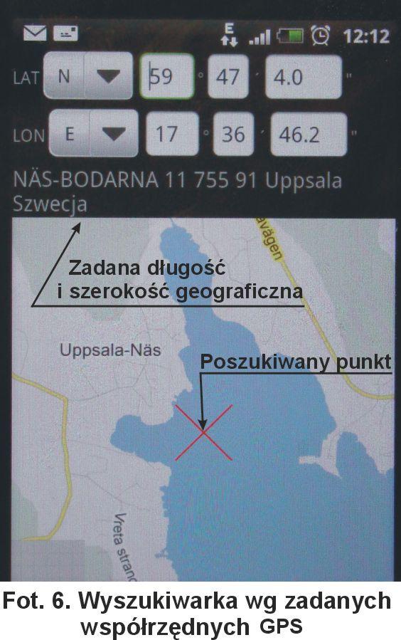 Wyszukiwarka wg zadanych współrzędnych GPS